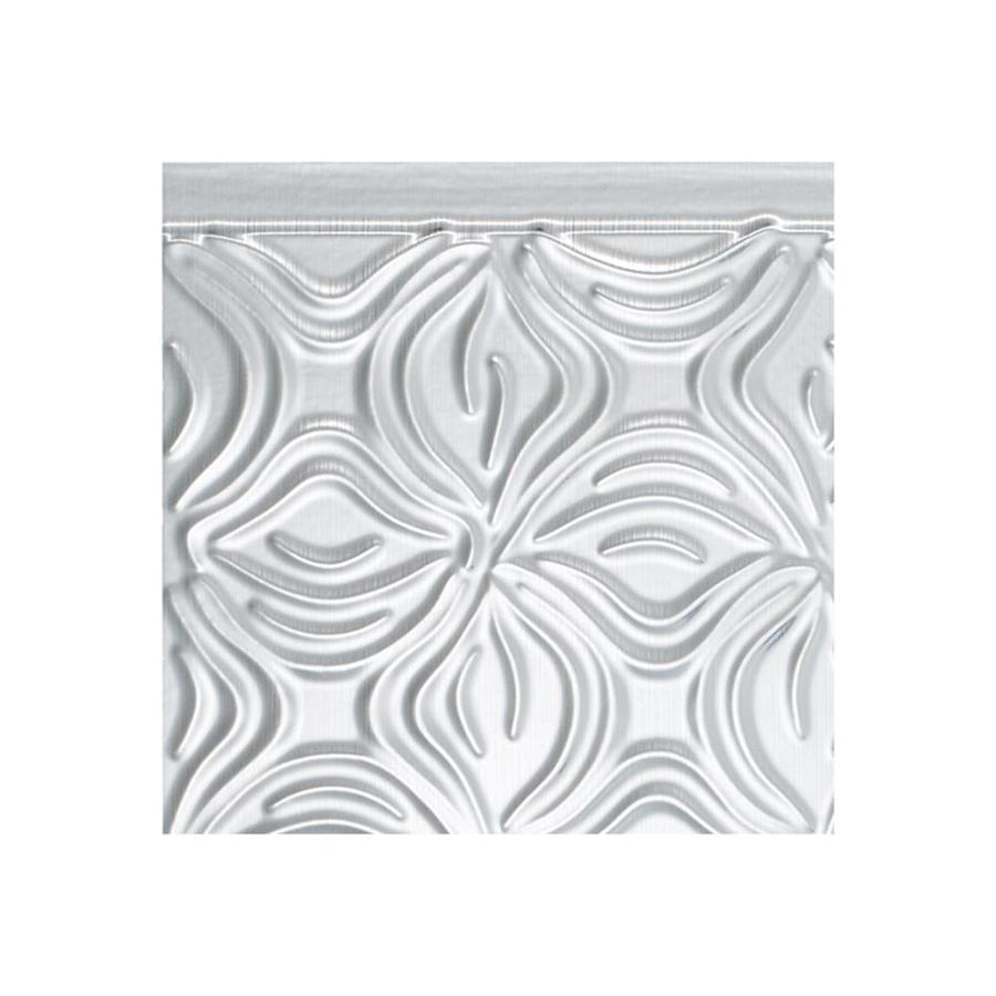 - Fasade Lotus 18.5-in X 24.5-in Brushed Aluminum Backsplash Panels