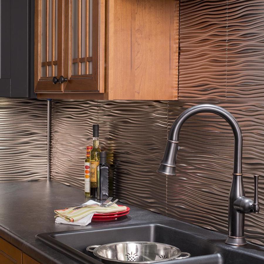 - Fasade 18.5-in X 24.5-in Brushed Nickel Thermoplastic Multipurpose