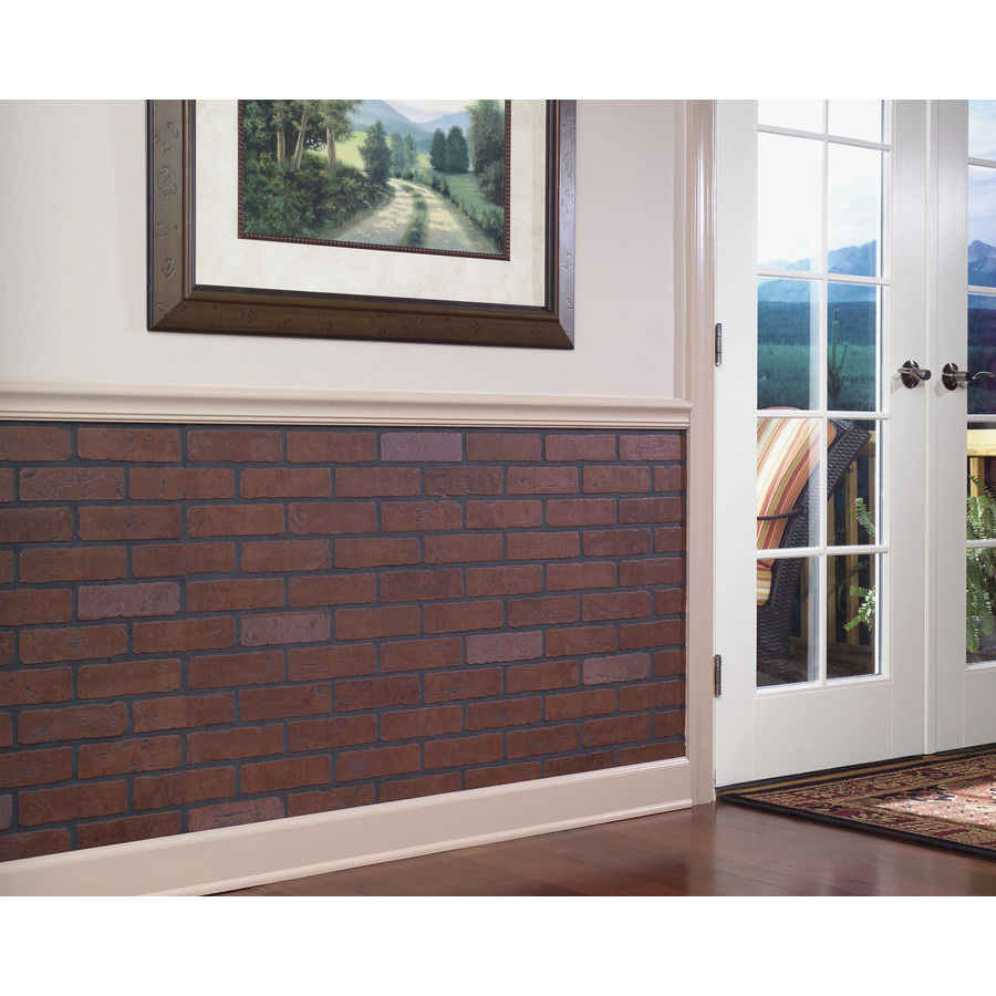 Craftsman Red Brick Wall Panel In The Wall Panels Department At Lowes Com