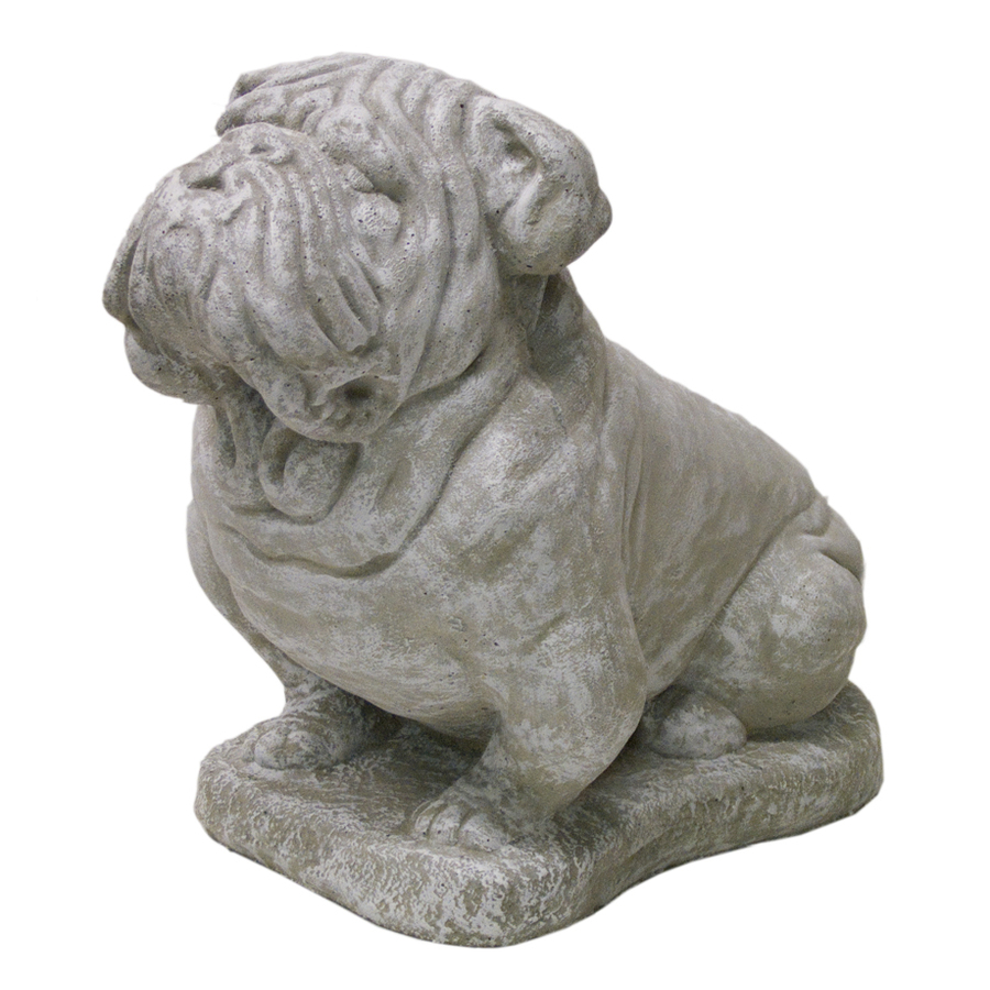 Shop 14 In H Bulldog Garden Statue At Lowes Com