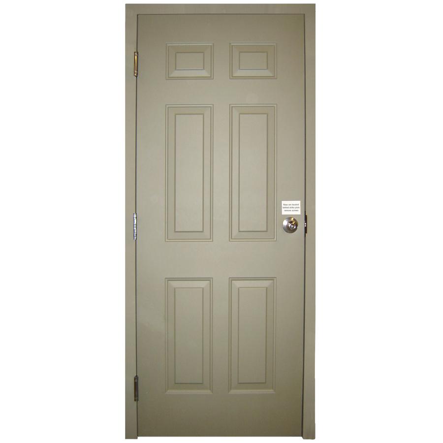 Admirable Shop Milliken Fire Resistant 6 Panel Prehung Inswing Steel Entry Door Common 32 In X 80 In Door Handles Collection Olytizonderlifede
