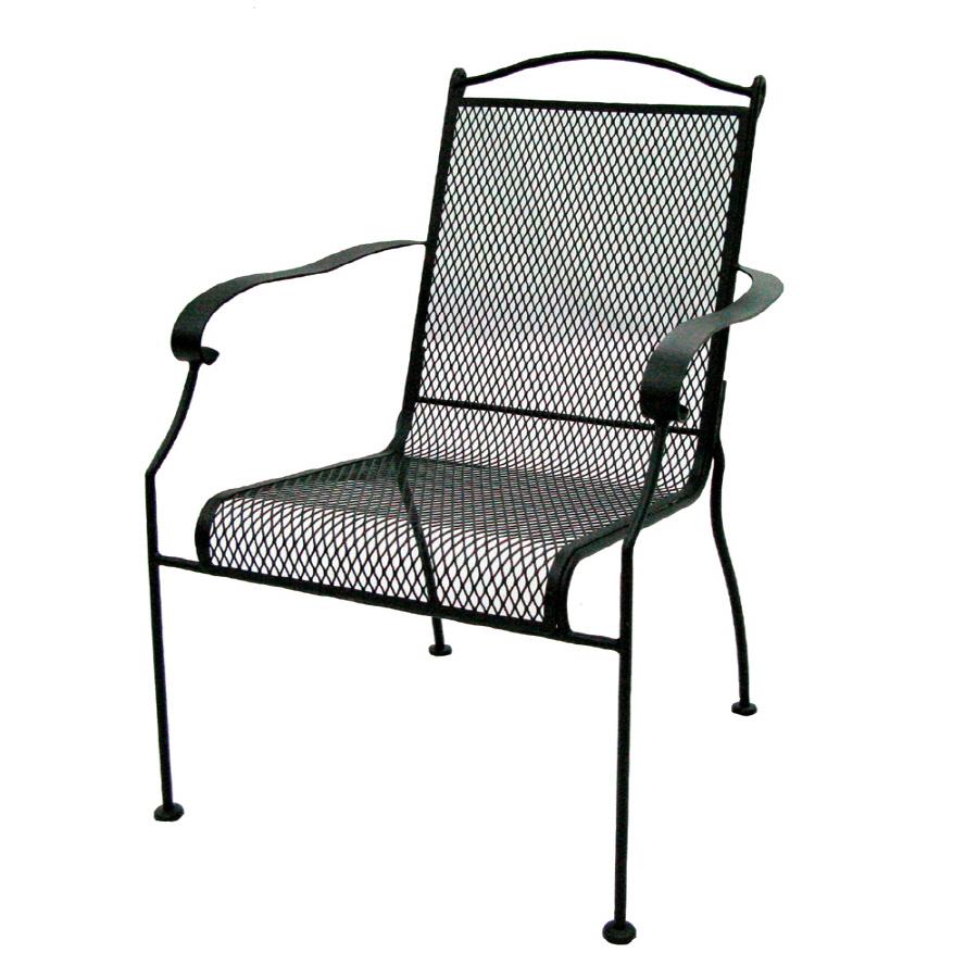 Shop Garden Treasures Hanover Mesh-Seat Wrought Iron Patio ...