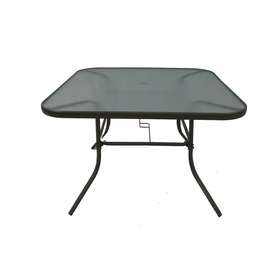 Shop Garden Treasures Driscol 26 63 In Glass Top Bronze