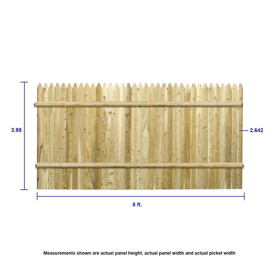 Severe Weather 5 8 In X 5 1 2 In W X 8 Ft H Pressure Treated Southern Yellow Pine Dog Ear Fence Picket In The Wood Fence Pickets Department At Lowes Com