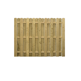 Severe Weather Spruce Dog-Ear Pressure Treated Wood Fence Privacy Panel (Common: 6-ft x 8-ft; Actual: 5.92-ft x 8-ft)