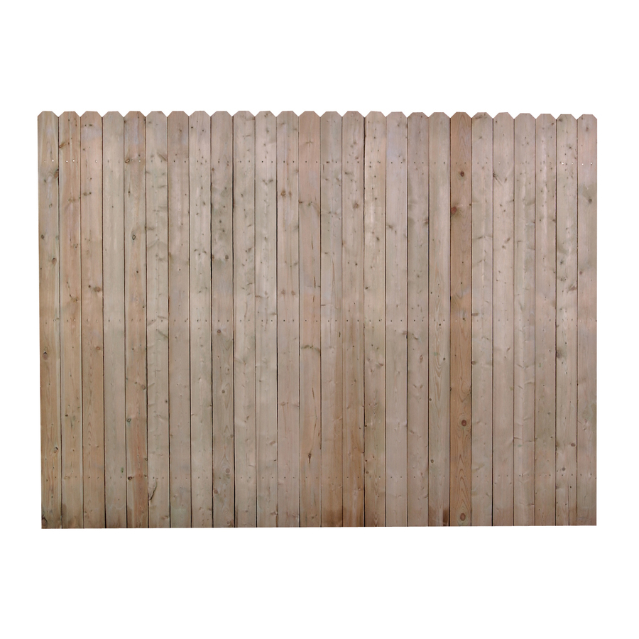 Shop Pine Dog Ear Pressure Treated Wood Fence Panel