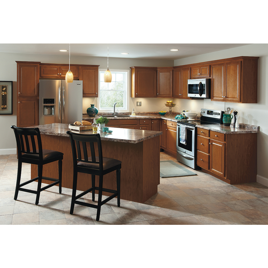 Kitchen Classics 7 Ft X 18 In X 23 75 In Cheyenne Saddle Pantry Kitchen Wall Cabinet At Lowes Com