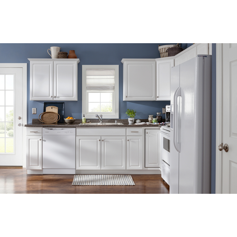 Kitchen Classics Concord 30 In W X 35 In H X 23 75 In D White Sink Base Cabinet In The Stock Kitchen Cabinets Department At Lowes Com