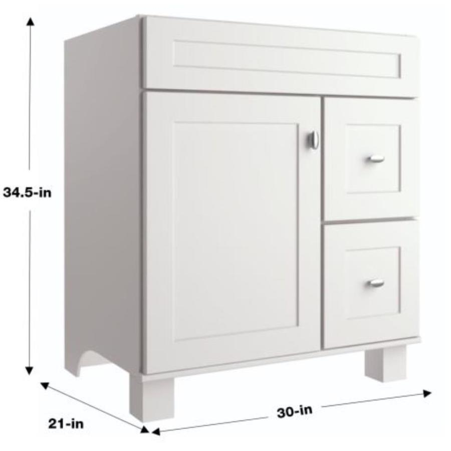 Diamond Now Palencia 30 In White Bathroom Vanity Cabinet In The Bathroom Vanities Without Tops Department At Lowes Com