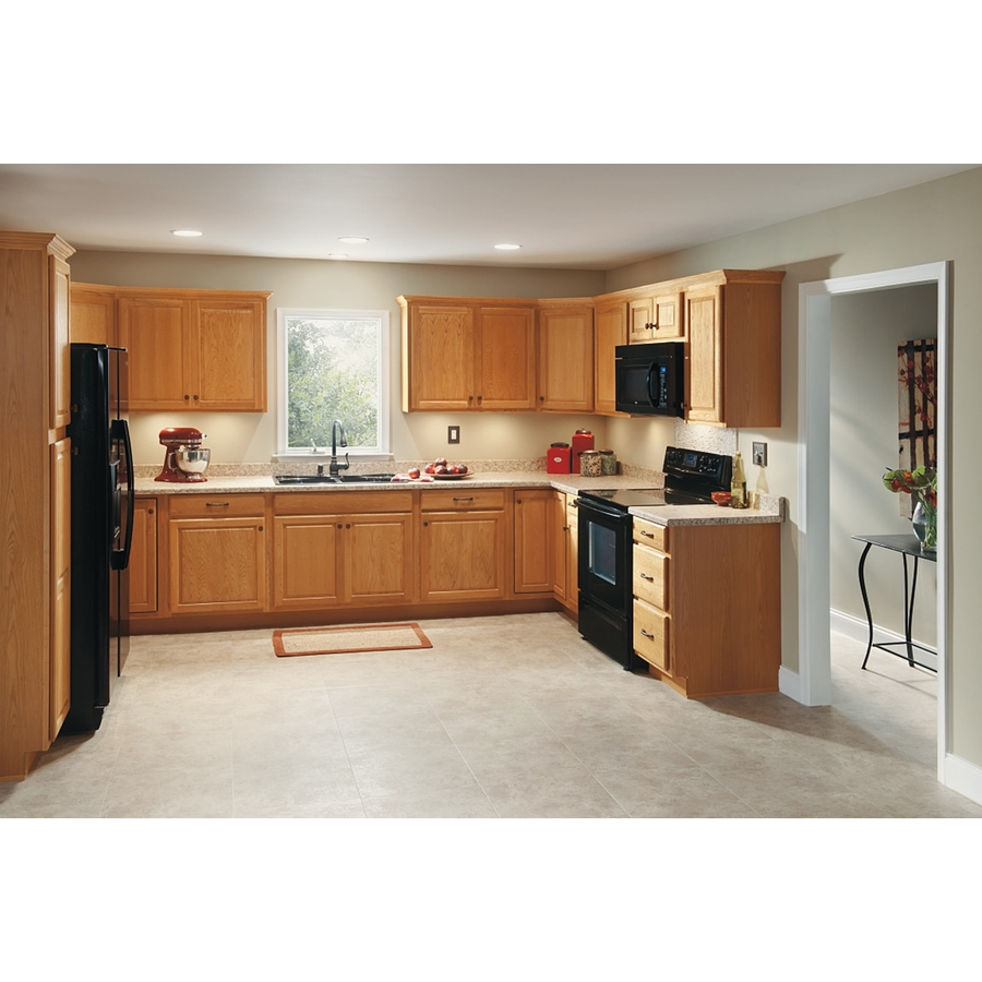 Diamond Now Portland 33 In W X 35 In H X 23 75 In D Wheat Sink Base Stock Cabinet In The Stock Kitchen Cabinets Department At Lowes Com