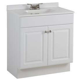 Shop Project Source White Integral Single Sink Bathroom