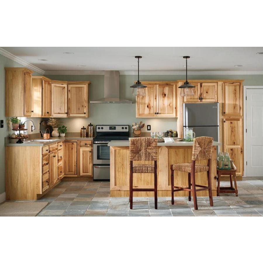 Diamond Now Denver 33 In W X 30 In H X 12 In D Natural Door Wall Stock Cabinet In The Stock Kitchen Cabinets Department At Lowes Com