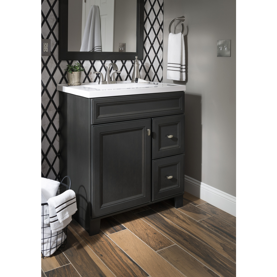 Diamond Now Goslin 30 In Storm Bathroom Vanity Cabinet In The Bathroom Vanities Without Tops Department At Lowes Com