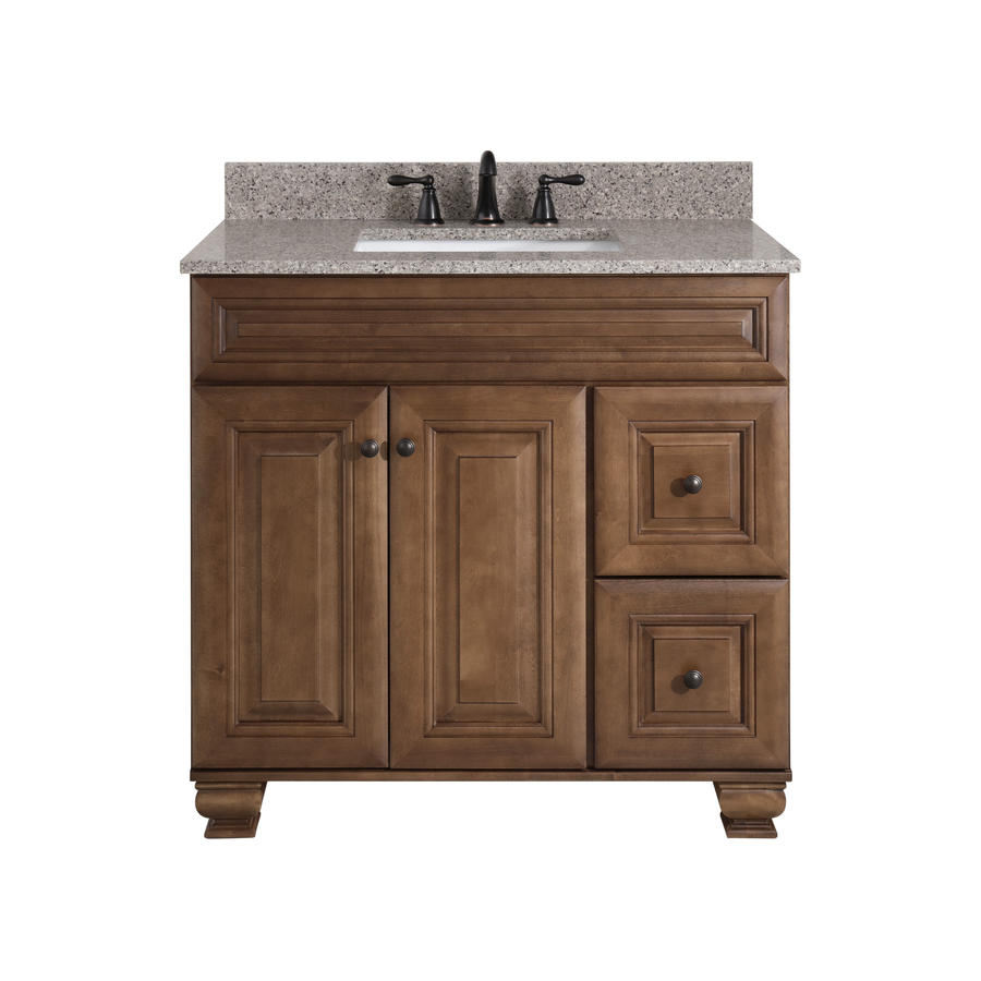 Diamond Now Ballantyne 36 In Mocha With Ebony Glaze Bathroom Vanity Cabinet In The Bathroom Vanities Without Tops Department At Lowes Com