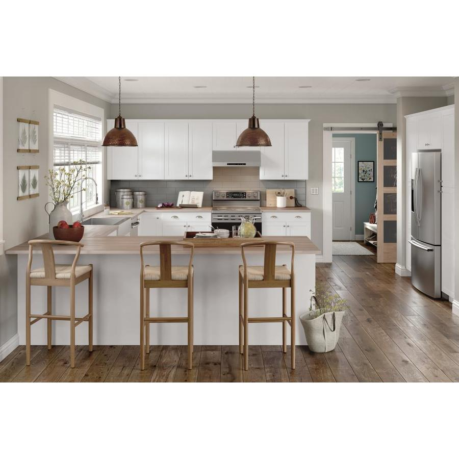 Diamond Now Arcadia 15 In W X 35 In H X 23 75 In D Truecolor White Door And Drawer Base Stock Cabinet In The Stock Kitchen Cabinets Department At Lowes Com