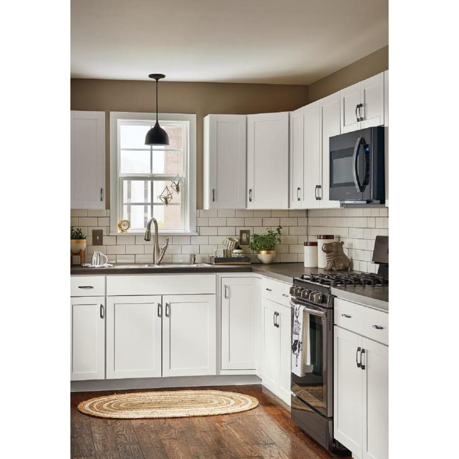 Diamond Now Arcadia 33 In W X 30 In H X 12 In D Truecolor White Door Wall Stock Cabinet In The Stock Kitchen Cabinets Department At Lowes Com