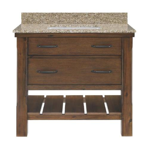 Patmore Mocha Glaze 37-in Undermount Single Sink Bathroom Vanity with Granite Top R10 VBCU37