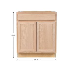Project Source Unfinished 30 In Natural Bathroom Vanity Cabinet In The Bathroom Vanities Without Tops Department At Lowes Com