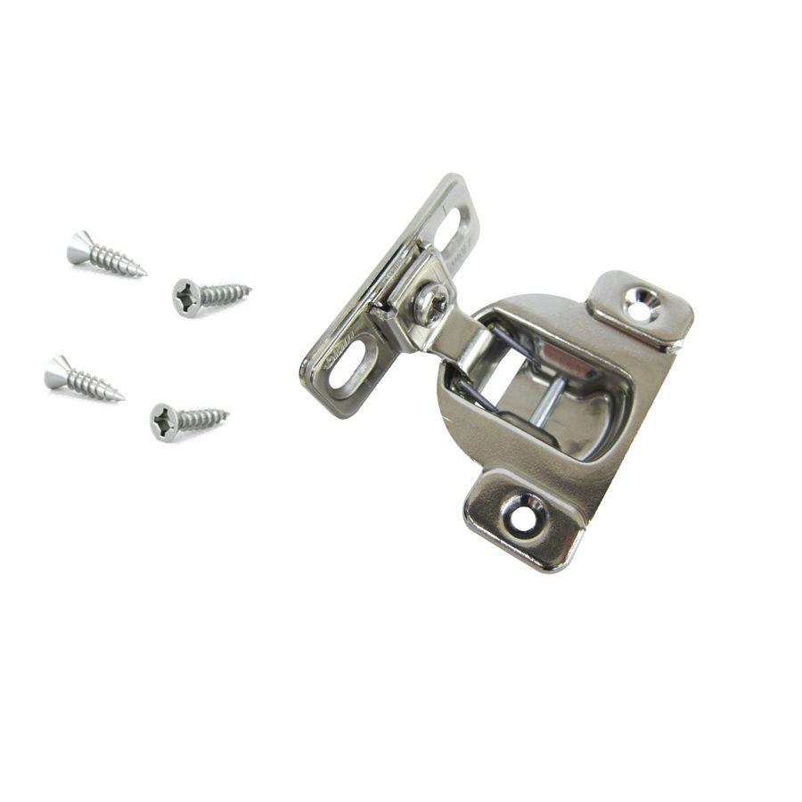 Shop Blum 2 1 2 In X 2 In Satin Nickel Surface Cabinet