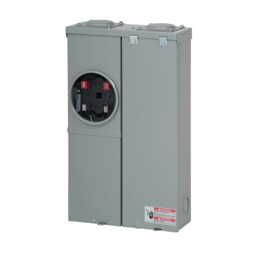 Eaton Type Br 100 Amp 12 Spaces 24 Circuit Main Breaker Meter Combo Load Center In The Breaker Boxes Department At Lowes Com