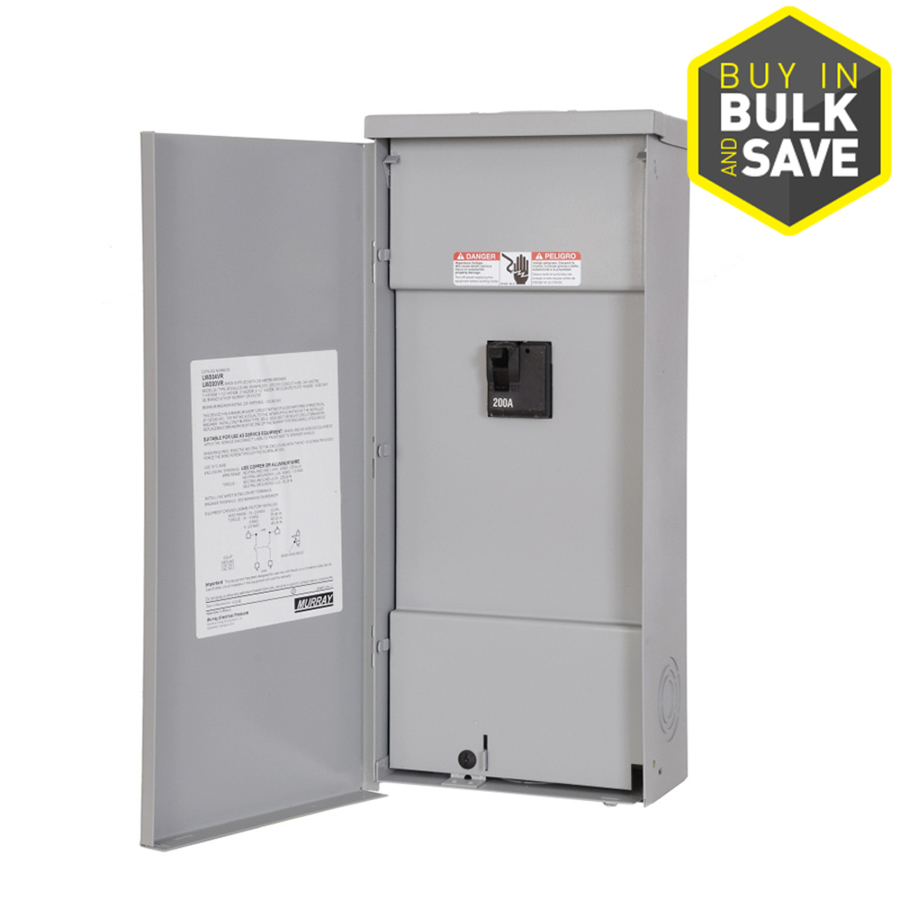 Siemens 2 Circuit Space 200 Amp Main Breaker Load Center Gold 125 4space 8circuit Outdoor Lug Panel