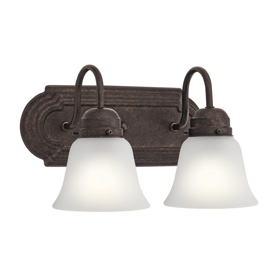 Kichler 2-Light Bronze Traditional Vanity Light 5336Tzs