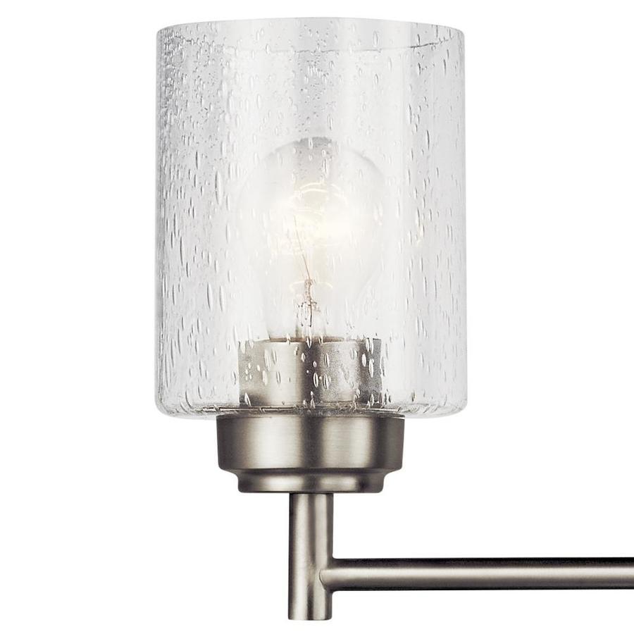 Kichler Winslow 4 Light Nickel Transitional Vanity Light In The Vanity Lights Department At Lowes Com