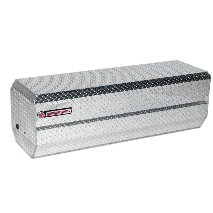 Weather Guard 62-In X 20-In X 19.25-In Silver Aluminum Chest Truck Tool Box 664-0-01