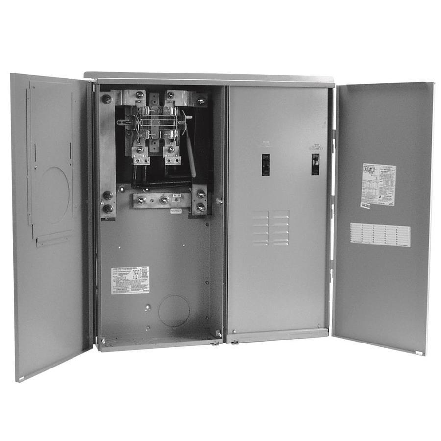GE 400 Amp, 8 Circuit Ring Type Meter Socket Load Center on