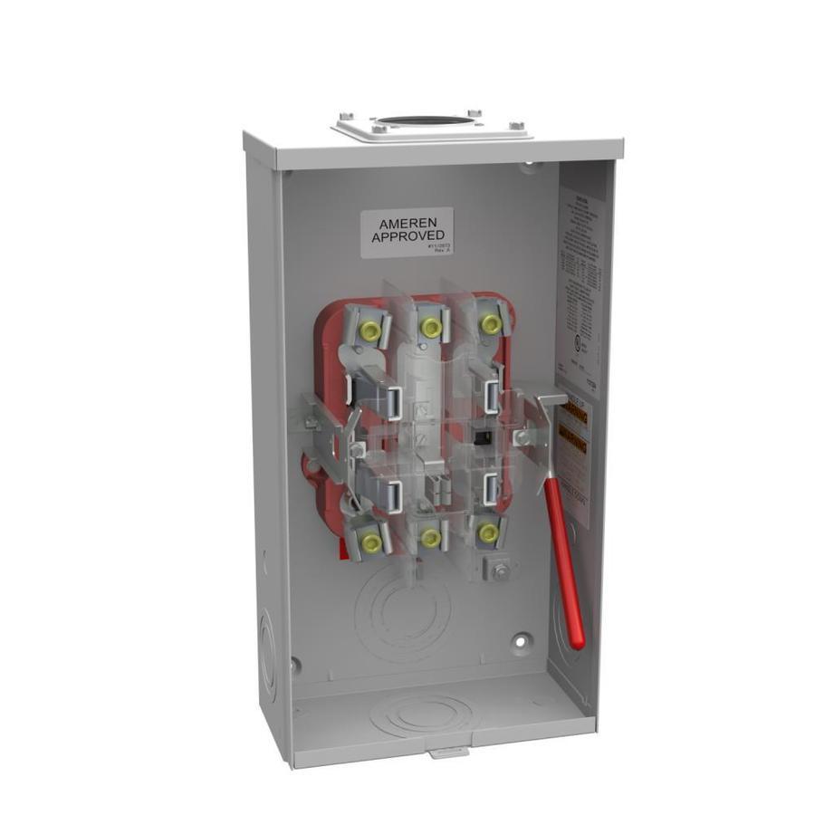 200 1 Gang Ringless Overhead/Underground Meter Socket | - Milbank R9550-RRL-QG-AMS