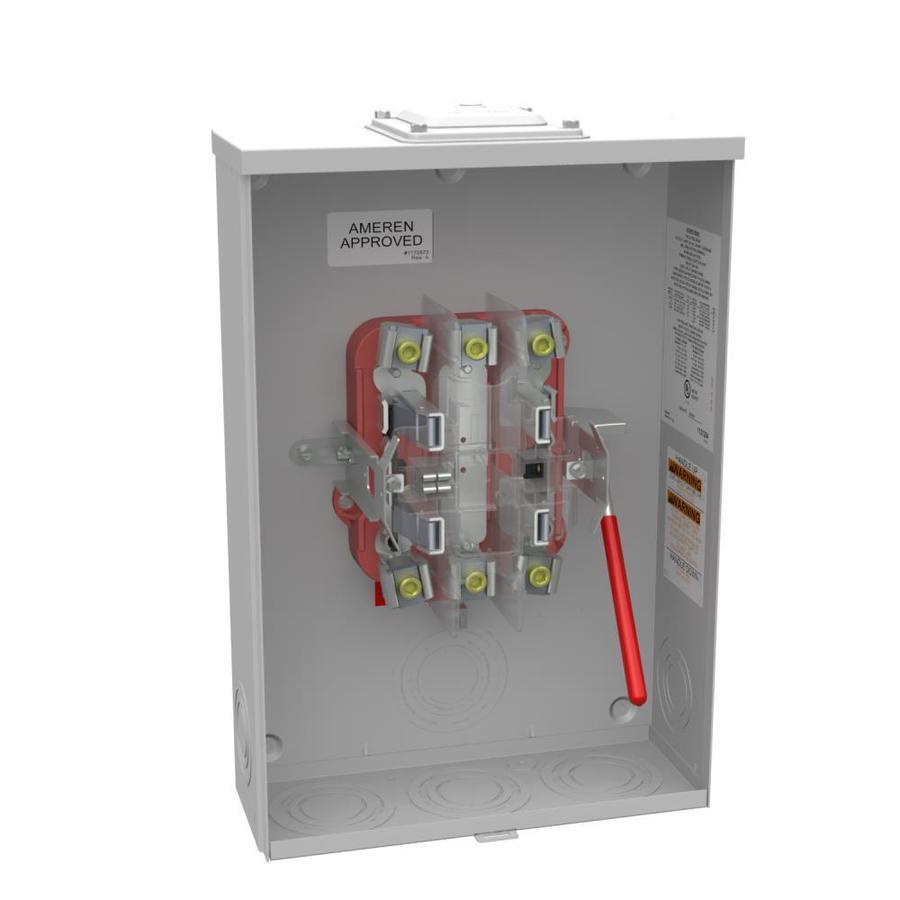 200 1 Gang Ringless Overhead/Underground Meter Socket | - Milbank R9551-RXL-QG-AMS