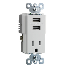 Lowe S Lowes Wall Outlet With 2 Amp Usb Receptacles