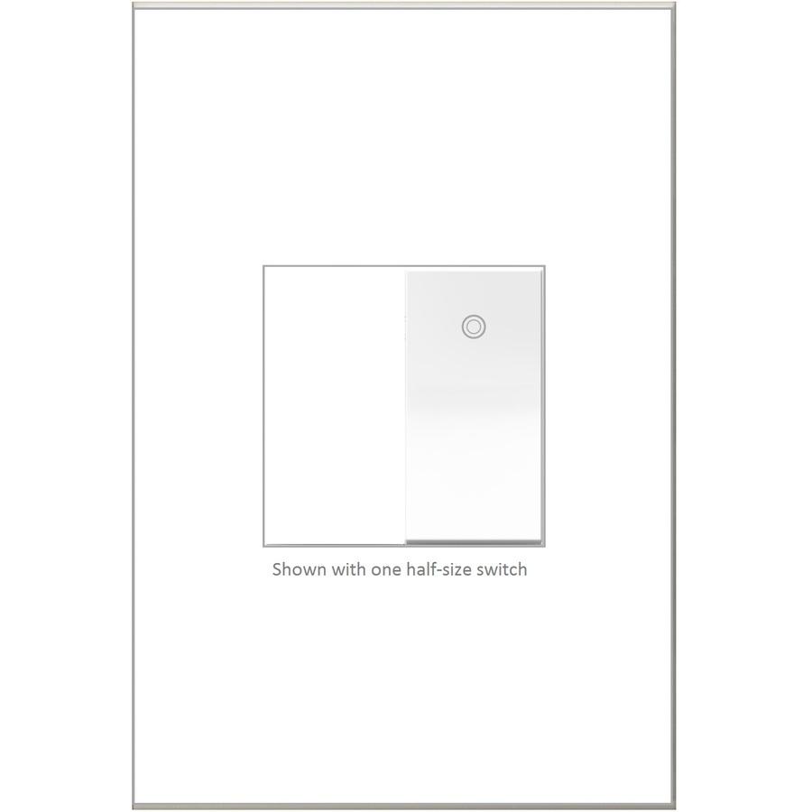 Legrand adorne Paddle Single-Pole/3-Way White LED Rocker Light Switch | ASPD1531W4