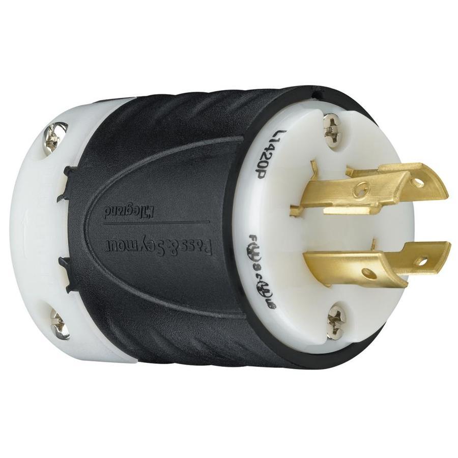 shop pass seymour legrand 20 amp 120 volt black 4 wire plug at. Black Bedroom Furniture Sets. Home Design Ideas