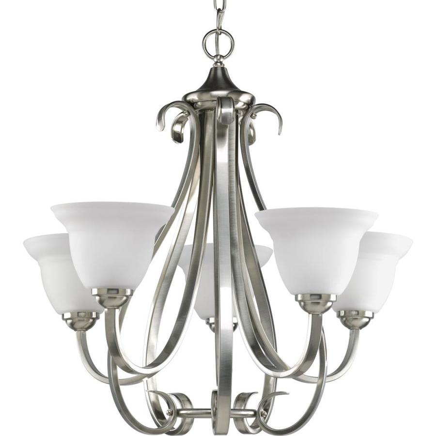 Progress Lighting Trinity 9 Light Brushed Nickel Transitional Chandelier