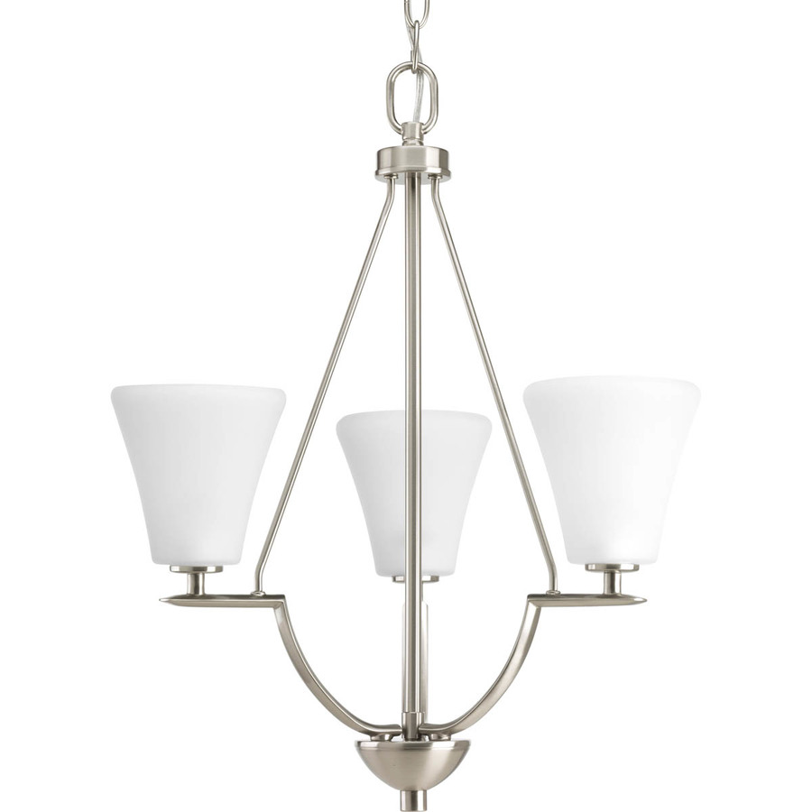 Details about Portfolio Linkhorn 3 Light Iron Stone Vintage Tinted Glass Chandelier