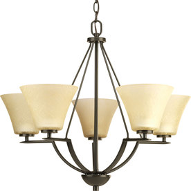 display product reviews for bravo 27in 5light antique bronze tinted glass shaded