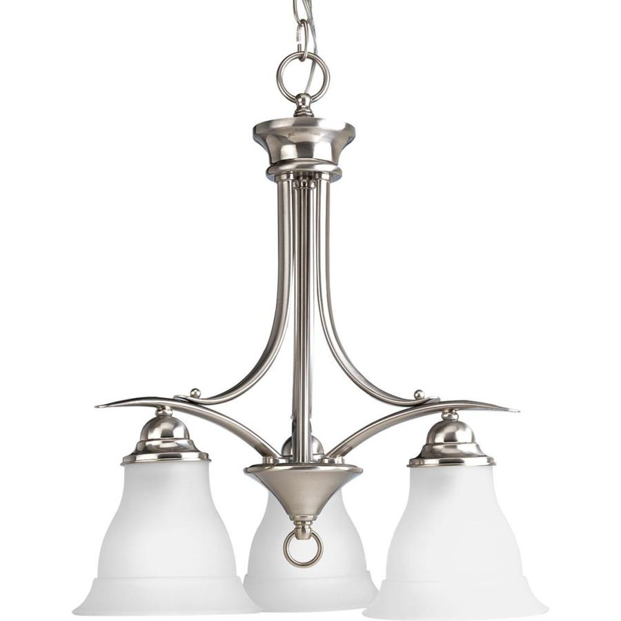 Shop Progress Lighting Trinity 3-Light Brushed Nickel ...