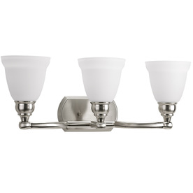 Display Product Reviews For Windemere 3 Light 23.625 In Brushed Nickel Bell  Vanity Light