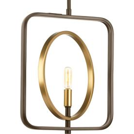 Progress Lighting Swing 12-In Antique Bronze Single Penda...