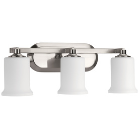 Display product reviews for Alux 3-Light 21.75-in Brushed Nickel Bell Vanity Light
