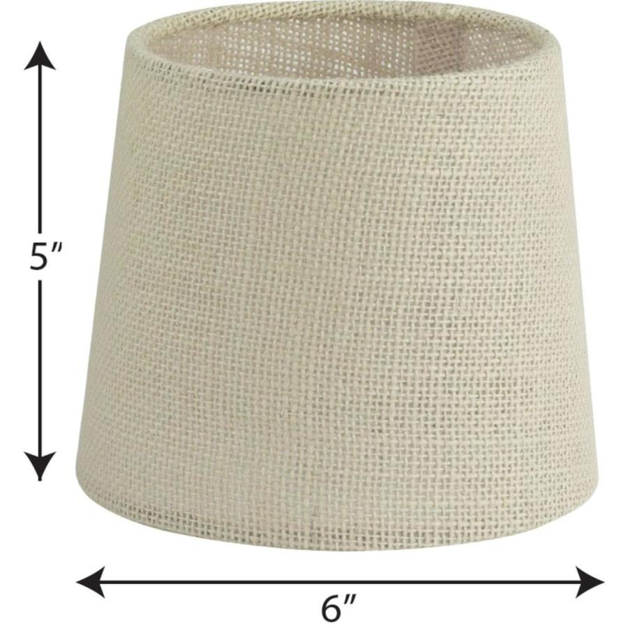 Progress Lighting Accessory Shade 5 In X 6 In Natural Burlap Fabric Drum Lamp Shade In The Lamp Shades Department At Lowes Com