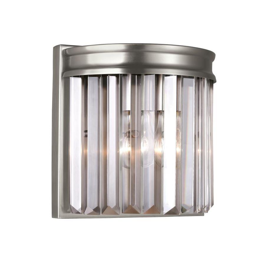 Sea Gull Lighting Carondelet 8.375-in W 1-Light Antique Brushed Nickel Wall Sconce ENERGY STAR | 4414001EN3-965