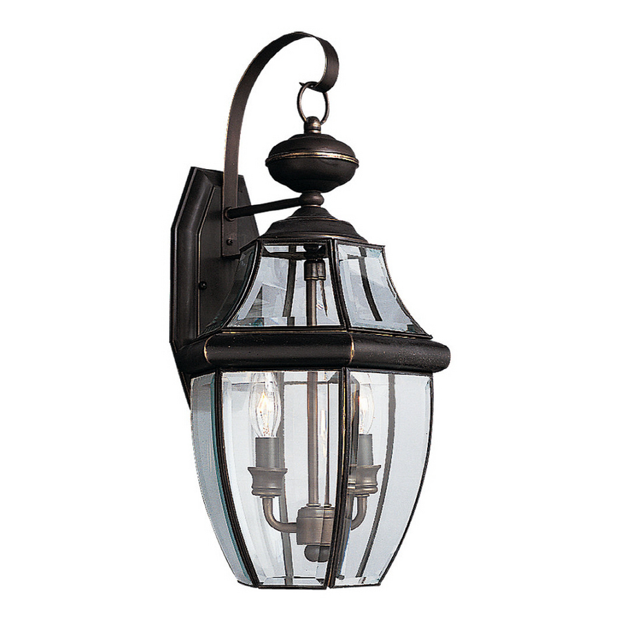 shop sea gull lighting 20 5 in h antique bronze outdoor wall light at. Black Bedroom Furniture Sets. Home Design Ideas