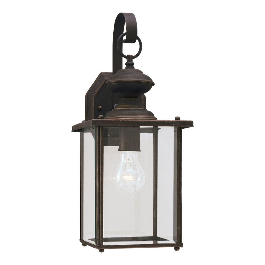 Lowes Outdoor Lighting Fixtures: Shop Sea Gull Lighting 17-in H Antique Bronze Outdoor Wall