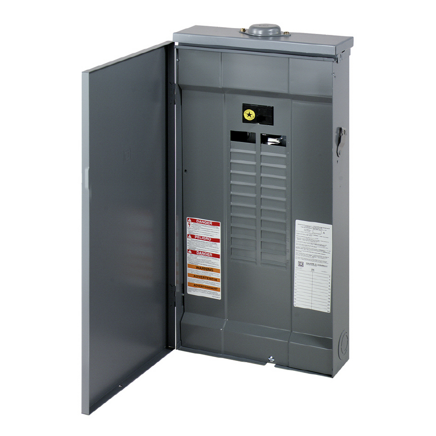 Outdoor 125 Amp Main Breaker 24 Circuit Panel Image Information Gold 4space 8circuit Lug Shop Square D Circu