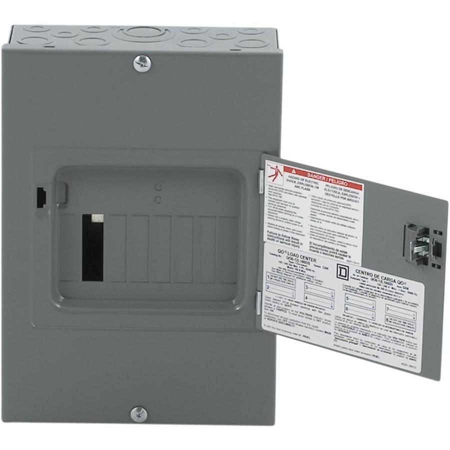 shop square d 12 circuit 6 space 100 amp main lug load