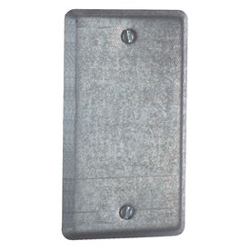 Steel City 1-Gang Rectangle Metal Electrical Box Cover 58C1-25R