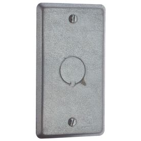 Steel City 1-Gang Rectangle Metal Electrical Box Cover 58C6-25L