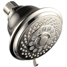 hotelspa 4 in brushed nickel showerhead with hand shower 1466 price tracking. Black Bedroom Furniture Sets. Home Design Ideas